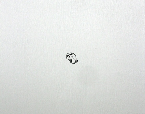 a drawing on the wall
